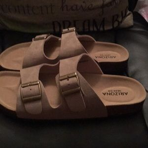 Beige footbed sandals ..NWOT